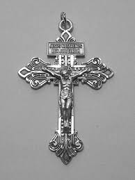 rosary crucifixes no 764 sterling silver pardon crucifix 2 1 4 rosary parts