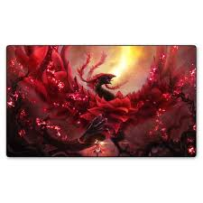 card game table cloth magic game red rose dragon playmat board games playmat table cloth