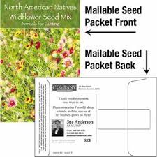 wildflower seed packets wildflower seed mix mailable seed packet custom printed back