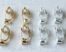 clip on earring converter clip on earring converter etsy uk