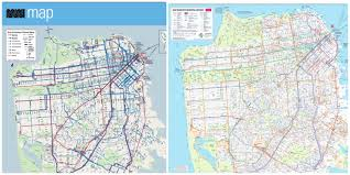 San Francisco Streetcar Map New Muni Map Offers Cleaner Design But Misses Key Info Buzz Blog