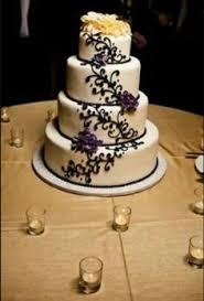 Wedding Cake Black Ivory Gold White Flowers Jessica Mogardo