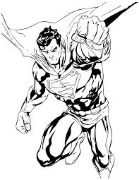 printable superman kids coloring