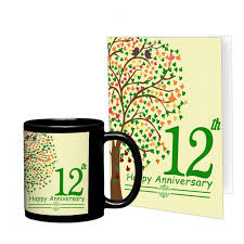 12 year anniversary gift for 12th wedding anniversary gift for collegue relatives