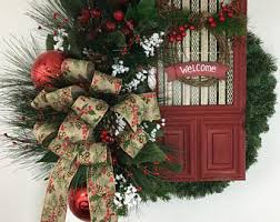 welcome wreath etsy