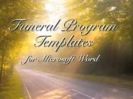 Free Funeral Programs Free Funeral Program Template Funeral Programs Youtube