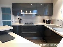 cuisine gris foncé cuisine gris anthracite brillant idées de décoration et de