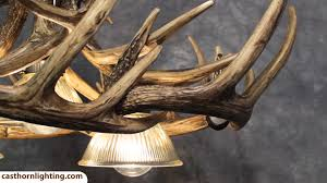 How To Make Antler Chandeliers Whitetail Deer 10 Antler Chandelier With 3 Downlights Cast Horn
