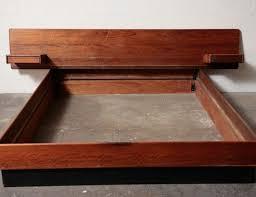 Mid Century Modern Platform Bed Frame Frame Decorations