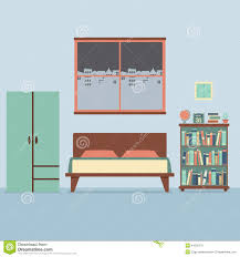 flat design bedroom interior stock vector image 44239795