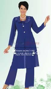 dressy pant suits for weddings blue chiffon pant suit for the grandmother of the nmo 178