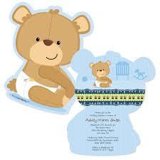 teddy themed baby shower baby boy teddy shaped baby shower invitations