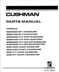 1996 current parts manual for cushman utility vehicles