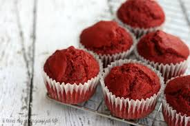 red velvet muffins from scratch