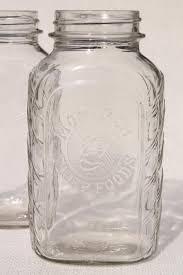 vintage monarch quart glass jars hoosier style flat front pantry