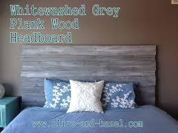 grey wood headboard inspirations with ana white rustic diy