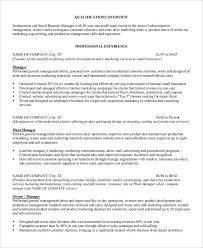 Ad Operations Resume Professional Manager Resume 49 Free Word Pdf Documents