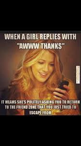 Funny Thanks Meme - when a girl replies awww thanks meme