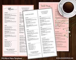 dining menu template food menu printable restaurant menu template wedding menu