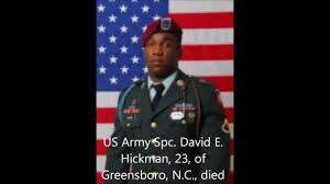 Fallen Officer Flag Tribute To Our Fallen Soldiers Us Army Spc David E Hickman 23