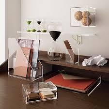 Clear Desk Accessories Acrylic Cube Clear Desk Desk Accessories And Desks