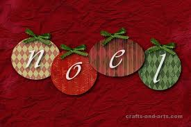 crafts noel ornaments card