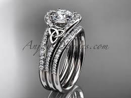 double wedding rings images Band diamond ring celtic platinum set ct7317s