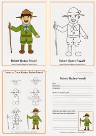 Robert Baden Powell Owl U0026 Toadstool Guiding And Scouting Printables