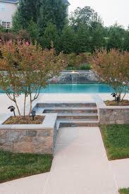 Cheap Backyard Landscaping Ideas Marvelous Above Ground Pool Stairs In Pool Contemporary With Stone