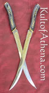 elven fighting knives black wood grain grip 39 95 blades