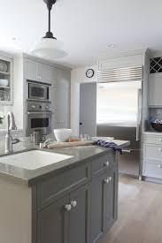 kitchens benjamin moore fieldstone gray painted kitchen