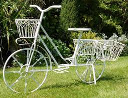 Shabby Chic Garden by Shabby Chic Garden Bicycle Flower Planter
