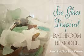 sea glass home decor our sea glass inspired beach bathroom remodel hometalk