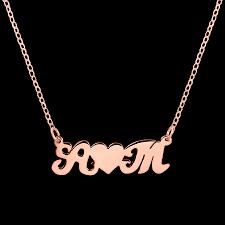 couples necklace felt initials couples necklace