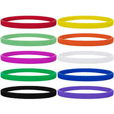 bracelet rubber images Gogo 100 pcs thin silicone wristbands rubber jpg
