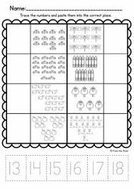 number worksheets for 11 20 match cut u0026 paste by from the pond