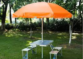 Patio Table Umbrella Steel Frame Outside Patio Table Umbrella Stand Alone Parasol For
