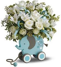baby flowers send migi s baby elephant bouquet deluxe blue in indio ca the