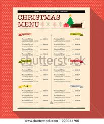 christmas menu food and drink design template layout banco de