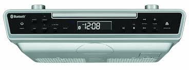 sylvania under cabinet cd player with bluetooth fm radio u0026 clock