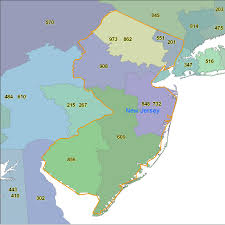 Free Zip Code Map by New Jersey Area Code Maps New Jersey Telephone Area Code Maps