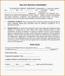 service agreement sample free service contract agreement template