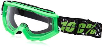 amazon com 100 strata mx goggles primary color green