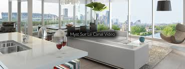 Le Myst Condos Montreal Myst Sur Le Canal Waterfront Downtown Montreal