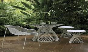 Outdoor Mesh Screen by White Resin Outdoor Furniture Outdoor Mesh Screen Material Metal
