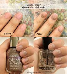 quick fix grown out gel nails pretty gossip