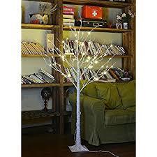 lightshare 4 birch tree 48 led lights warm
