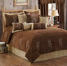 browning buckmark suede comforter set cabin themed bedding