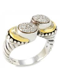 silver diamond rings silver diamond jewelry rings with 18k gold accents