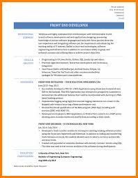 Front End Ui Developer Resume 6 Cv Front End Developer Students Resume